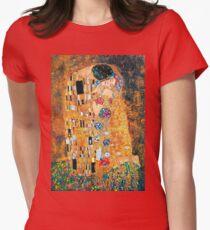 Gustav Klimt - The kiss  Women's Fitted T-Shirt