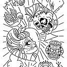 Rockabilly Zombie Lovers Couple by Ella Mobbs