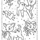 Valentine's Baby Deers by Ella Mobbs