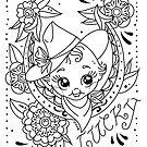 Lucky Cowgirl Kewpie Doll by Ella Mobbs