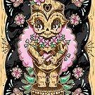 Kewpie Tiki Art Print by Ella Mobbs