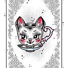 Kitten Teacup Playing Card by Ella Mobbs