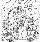 Luck Cat Perfume Linework by Ella Mobbs