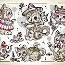 Kitten Teapots by Ella Mobbs