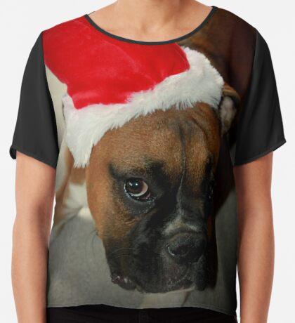 Dino ~ Santas kleiner Helfer ~ Boxer Dog Series Chiffontop für Frauen