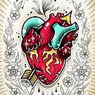 Anatomical Heart Print by Ella Mobbs
