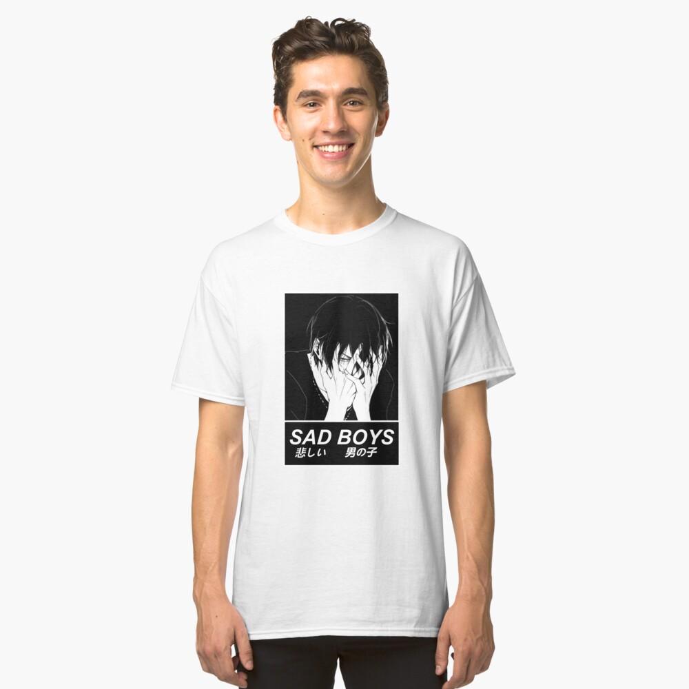 SAD BOYS - SAD JAPANESE ANIME AESTHETIC Camiseta clásica