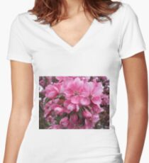 Blossoms Women's Fitted V-Neck T-Shirt