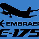 Embraer E175 - Silhouette (Black) by TheArtofFlying
