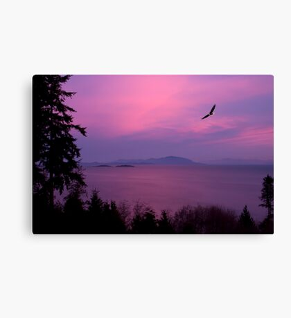 Sunrise Over the Strait Canvas Print