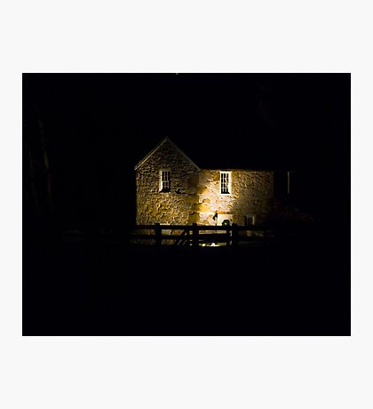 The Spring House at Night Photographic Print