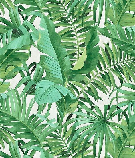 Green tropical leaves II von CatyArte