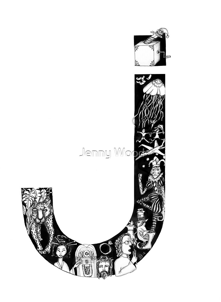 The letter J by Jenny Wood