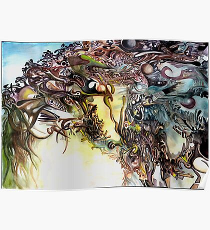 Fall of the Five Fractal Deities Poster