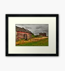 Barns in the prairies Framed Print