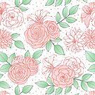 Vintage Floral Pattern by Anastasia Shemetova