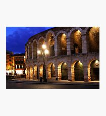 Night at the Arena in Verona Photographic Print