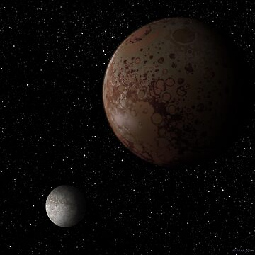 Dwarf Planet Pluto and its moon Charon by JimPlaxco
