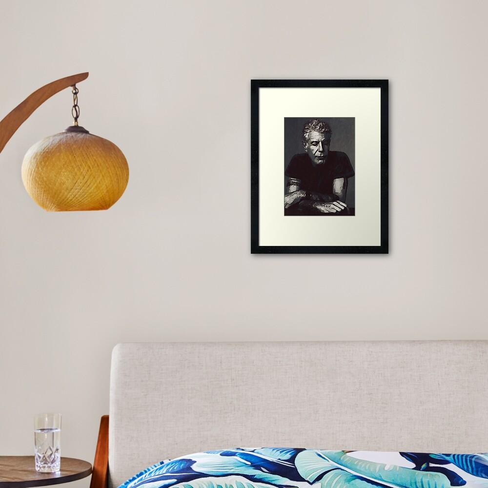 Anthony Bourdain Framed Art Print