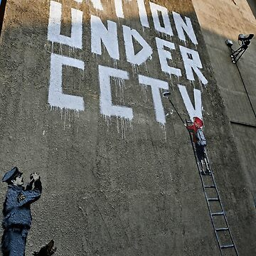 Banksy One Nation Under CCTV by furioso