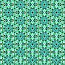 Grün Abstrakt Mandala von Costa100