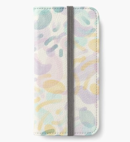 Dotted Blobs #redbubble #abstractart iPhone Wallet