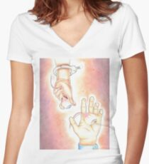 """Hey, you dropped your eye"" Women's Fitted V-Neck T-Shirt"