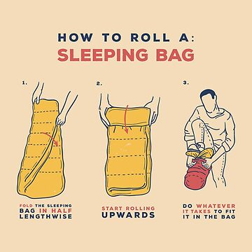 How to roll a sleeping bag by bresquilla