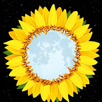 Sunflower moon by GeschenkIdee