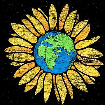 Sunflower earth by GeschenkIdee