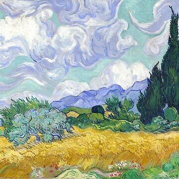 Wheat Field with Cypresses, Van Gogh by fourretout
