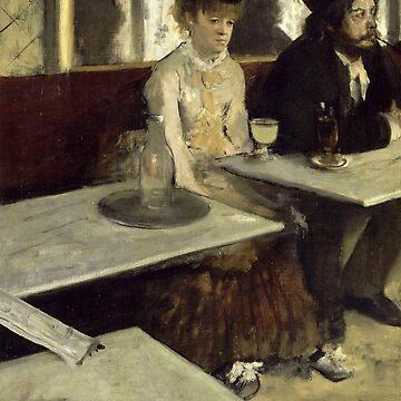 Absinthe, Edgar Degas by fourretout