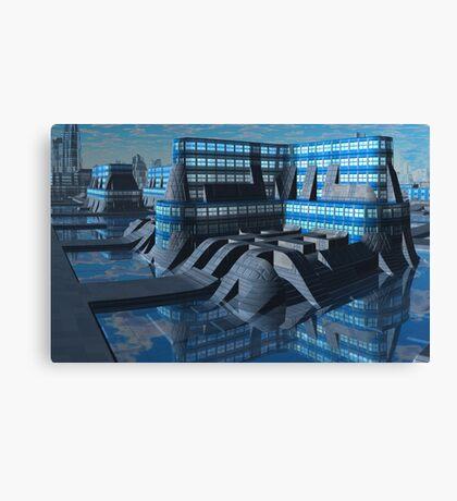 Amalgamated Worlds Bank Canvas Print