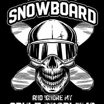 Snowboarding problems by GeschenkIdee