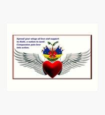 Haiti In Our Heart Art Print