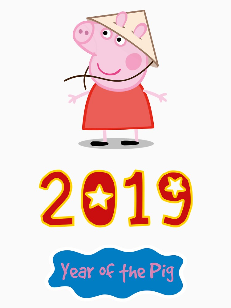 2019 Year Of The Pig Chinese New Year Peppa Pig Classic T Shirt