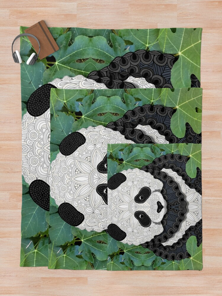Alternate view of Little Panda Throw Blanket