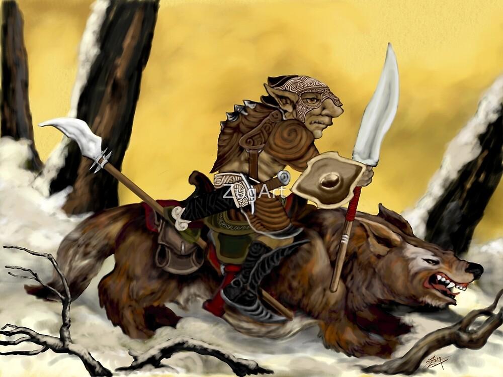 Dreadful Wolf Rider by ZugArt