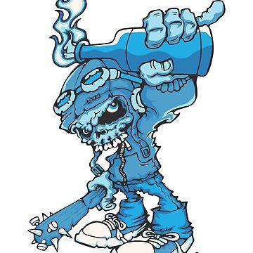 BLUE CAVEIRA T SHIRT by albertosm