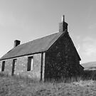 Cottage at Loch Meallbrodden, Mono II by YvonneHair