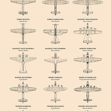 British Bomber Aircraft of WW2 by rogue-design