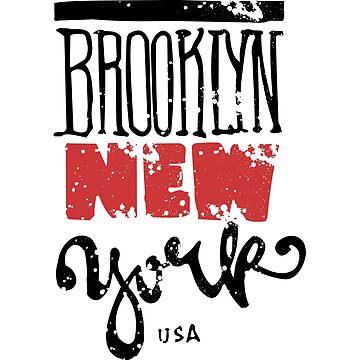 T-SHIRT Brooklyn New York USA  by albertosm