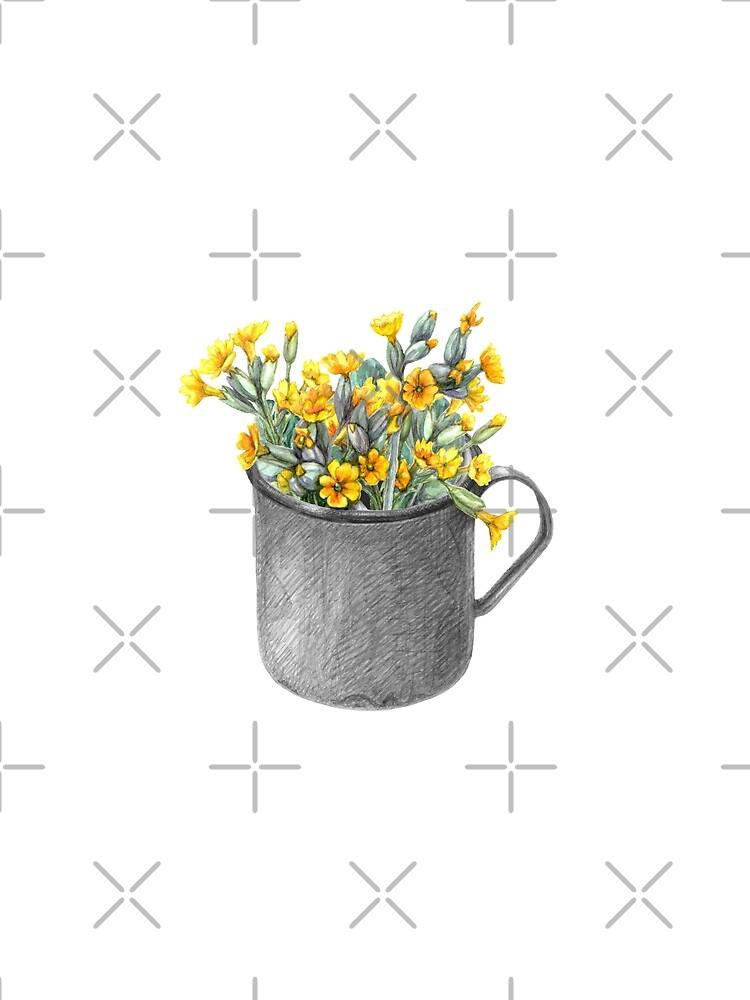 Mug with primulas by stasia-ch