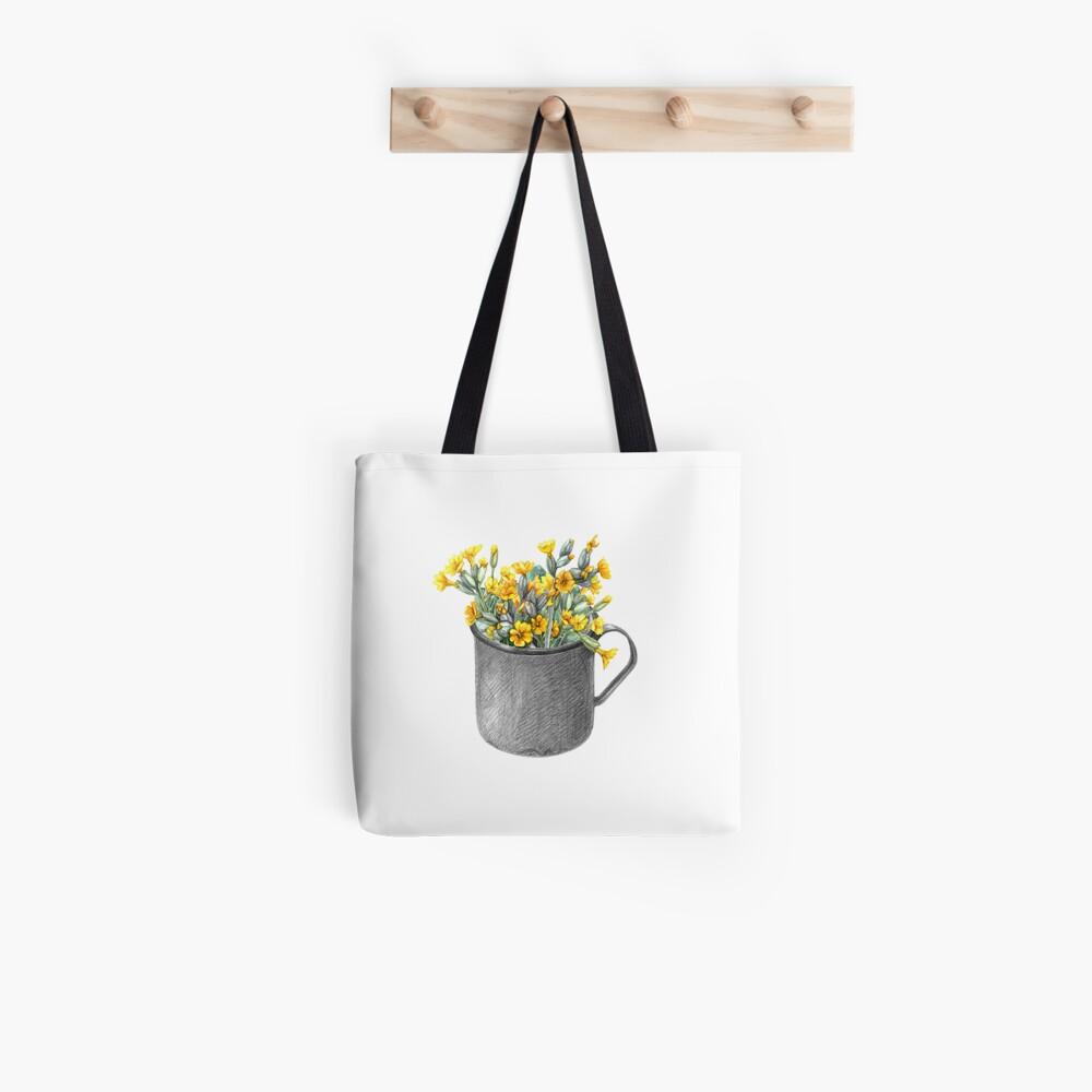 Mug with primulas Tote Bag
