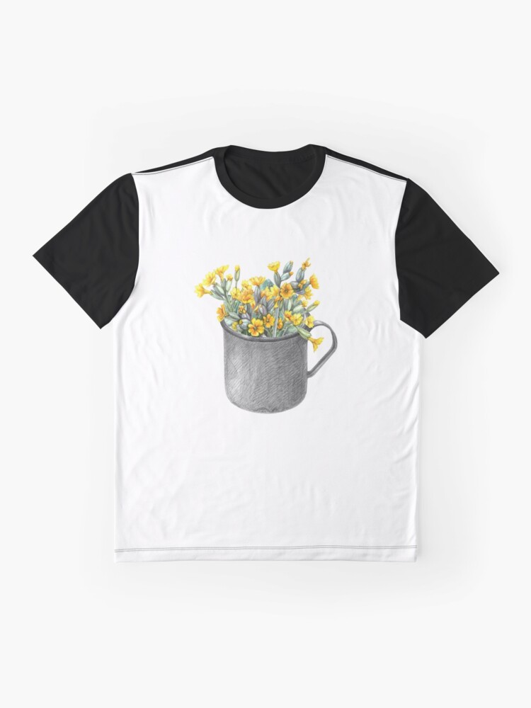 Alternate view of Mug with primulas Graphic T-Shirt