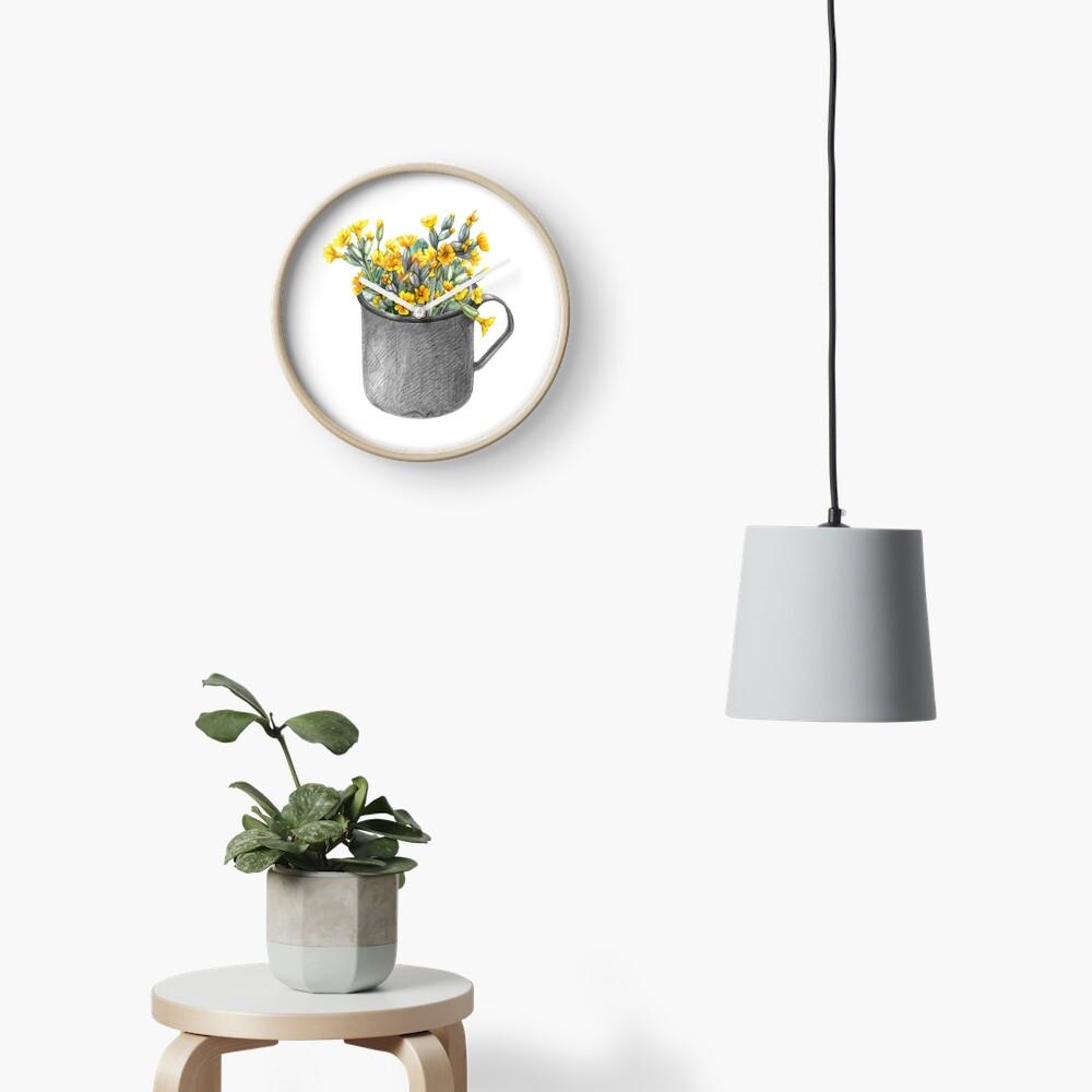 Mug with primulas Clock
