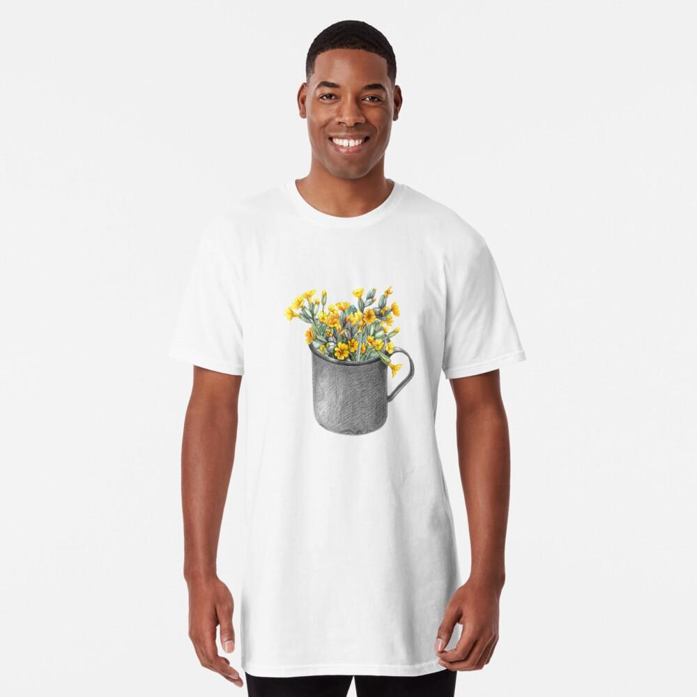 Mug with primulas Long T-Shirt