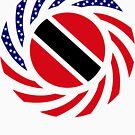 Trinidadian American Multinational Patriot Flag Series by Carbon-Fibre Media