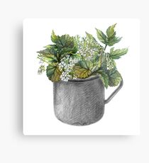 Mug with green forest growth Metal Print