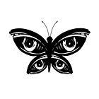 Schwarzer Schmetterling Tattoo Design von Cristinali